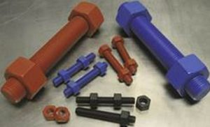 Screws coated with PTFE